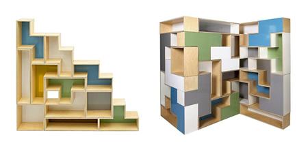 Regal aus Tetris-Steinen