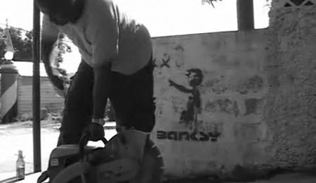 banksy-wand-wegflexen