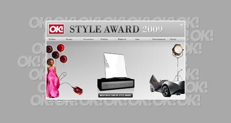 Webseite des OK! STYLE AWARD