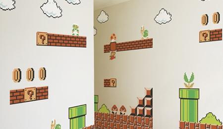 Super Mario an deiner Zimmerwand
