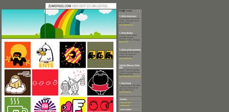 zumspass.com Webseite - T-Shirt Shop