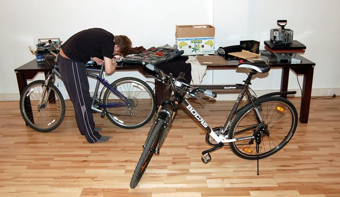 Foto von Gilgs neuem Fahrrad