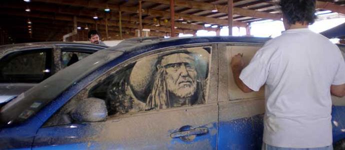 Autoscheiben Dreckbilder