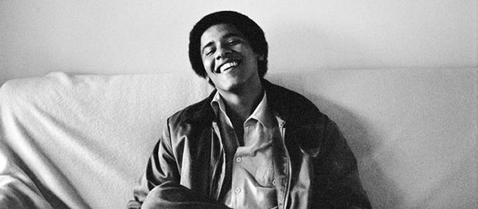 Fotos von Barack Obama jung