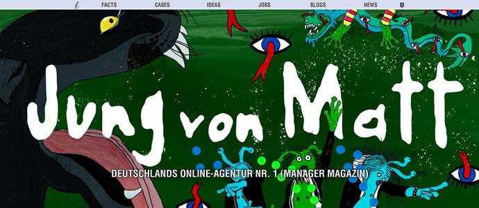 Die neue Webseite der Werbeagentur Jung von Matt (JvM)
