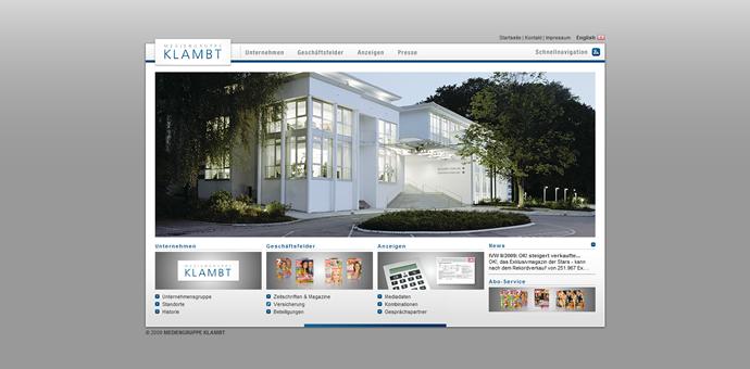 Neue Webseite der MEDIENGRUPPE KLAMBT