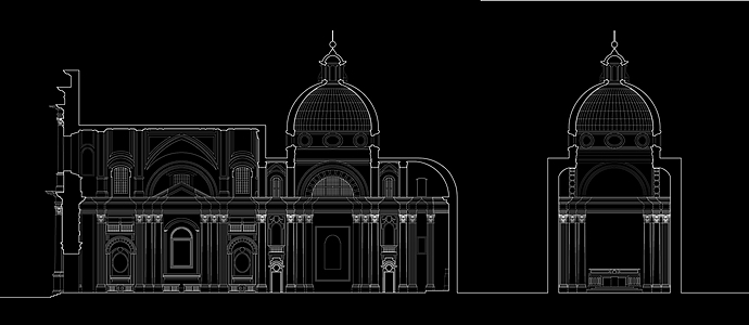 architektonische Zeichnung von Danny Wills