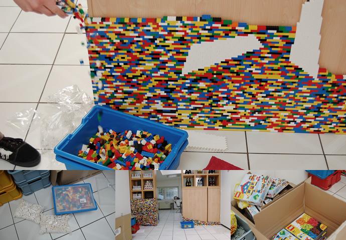Legowand mit NPIRE Logo