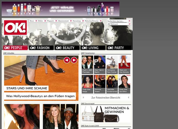 Screenshot Startseite OK! Deutschland