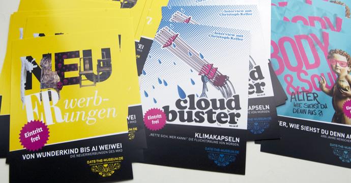 DATE-THE-MUSEUM Flyer des MKG Hamburg